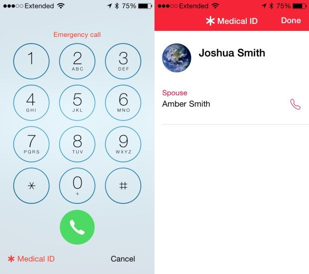 Add a Medical ID to the iOS 8 lock screen on iPhone.