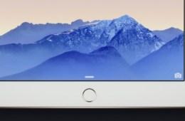 The iPad Air 2's TouchID fingerprint reader.
