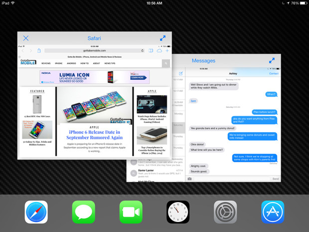 We may finally see the option to use two apps at the same time on the iPad Air 2 with iOS 8.1.