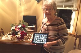 A very happy Grandma with her fixed iPad 2.