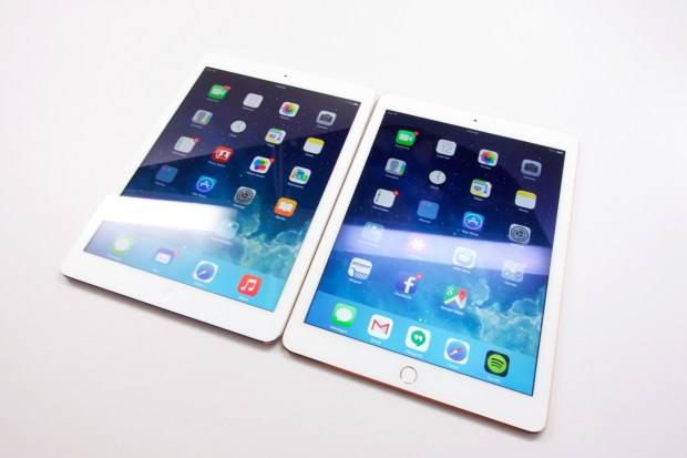 The reflection is minimized on the iPad Air 2 on the right.