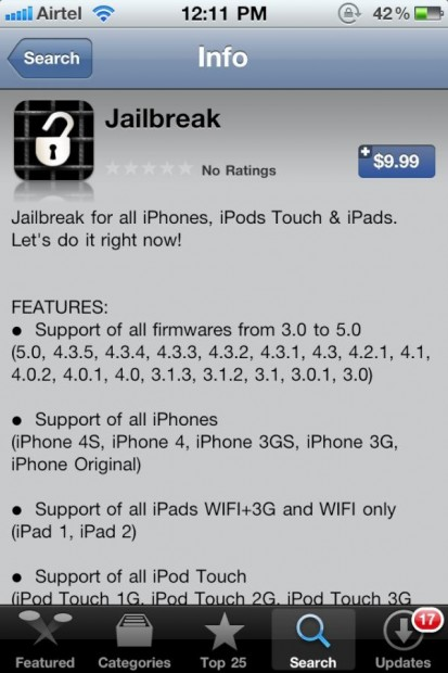 iPhone 4S Jailbreak app
