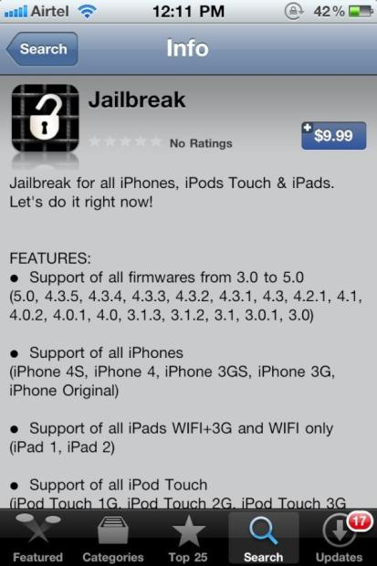 iPhone 4S Jailbreak app
