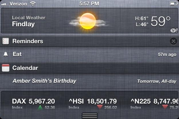 iPhone 4S Notification Center