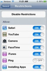 iPhone 4S Settings - Keyboard Clicks