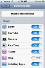iPhone 4S Settings - Keyboard Clicks