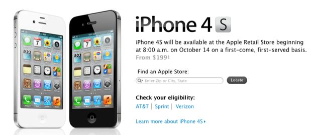 iPhone 4S Apple Store Open