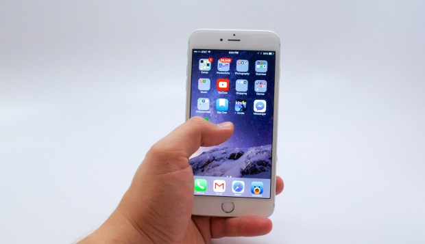 It's possible to use the iPhone 6 Plus with one hand, but it is better with two.