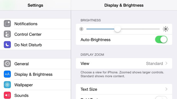 Turn Auto-Brightness off to get better iPhone 6 Plus battery life.