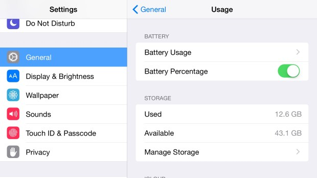 See how much iPhone 6 Plus battery life is left.