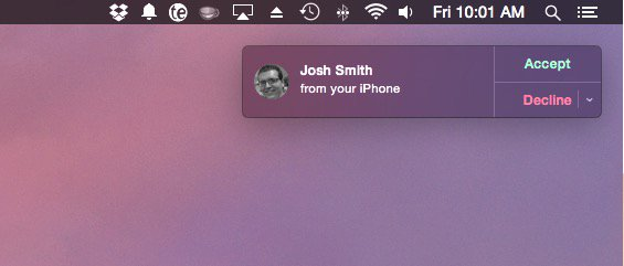 Answer iPhone 6 Plus calls on the Mac or iPad.