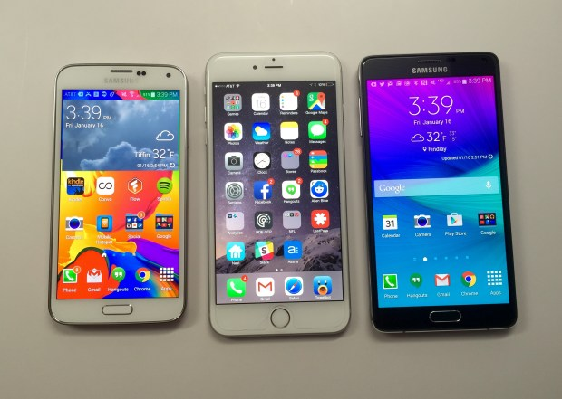 The Galaxy S6 screen will be the same size as the iPhone 6 Plus and smaller than the Note 4, according to rumors.