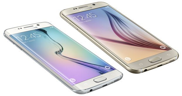 The Galaxy S 6 display is smaller and offers a curved edge option.