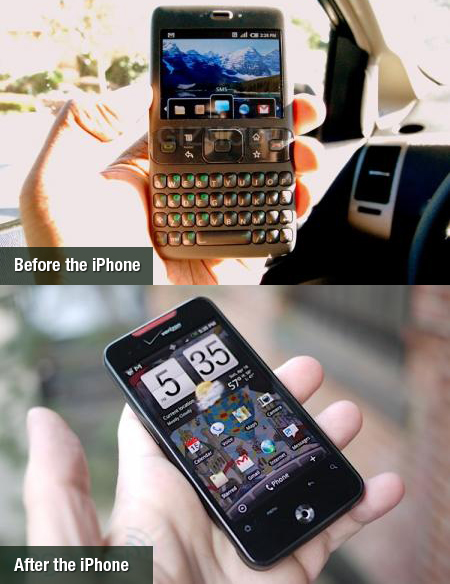 Android before the iPhone and After the iPhone