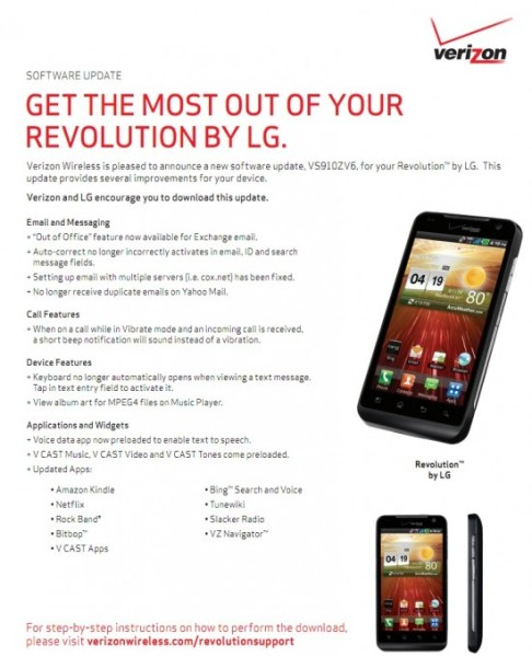 Verizon Gearing Up to Deliver LG Revolution Software Update