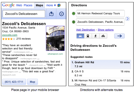 Google Maps for Browsers