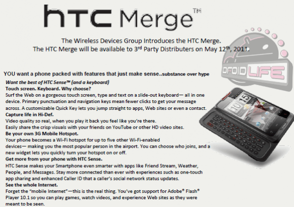 HTC Merge Launch Date?