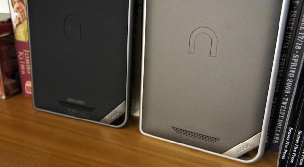 Nook Color and Nook Tablet back