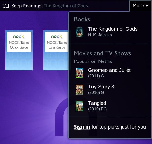 Nook Tablet Screen