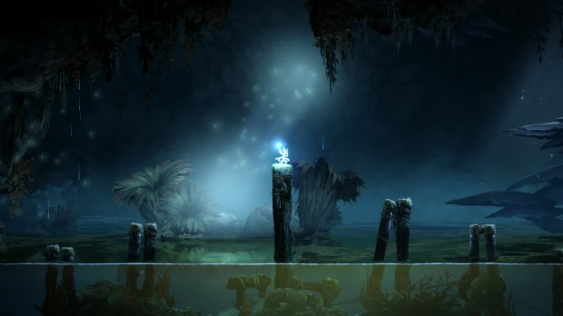 A scene from Ori and the Blind Forest.