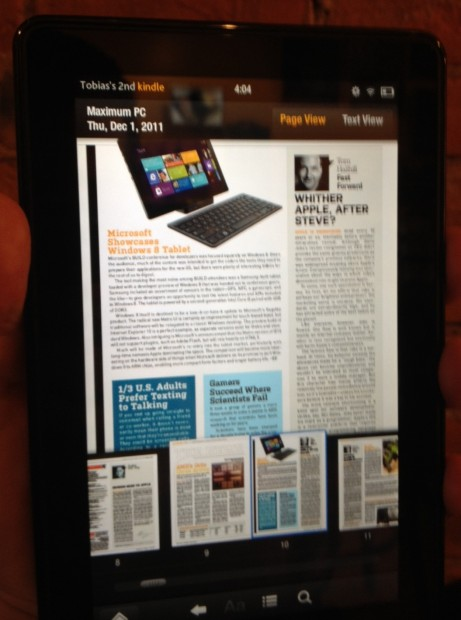 Kindle Fire Magazines don't have to suck.