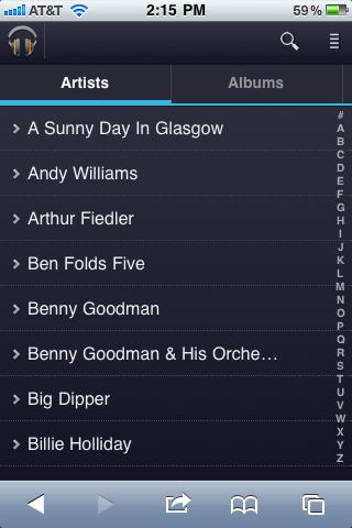 Google Music Web App