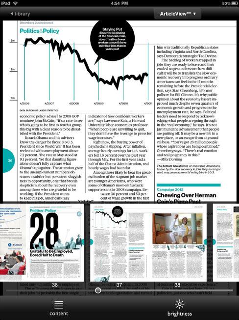 Nook iPad App Magazine