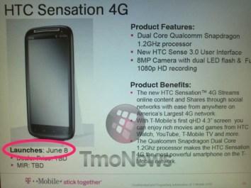 HTC Sensation Release Date