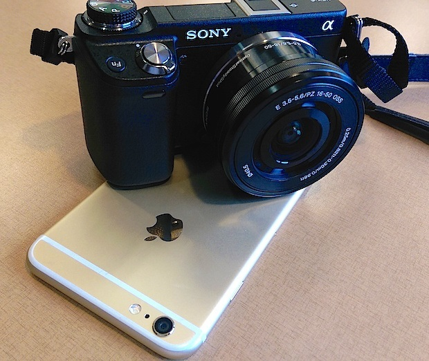 sony nex 6 plus on iphone 6 plus