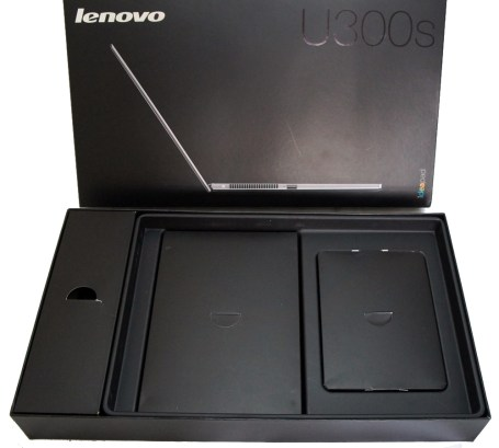 Lenovo IdeaPad U300s Ultrabook cord boxes
