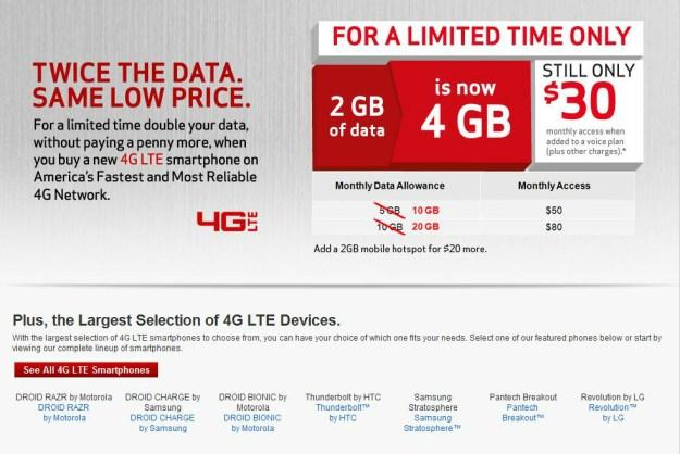 Verizon's 4G LTE Promo