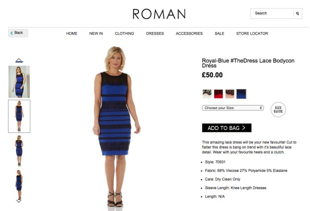 This is the real black and blue dress.