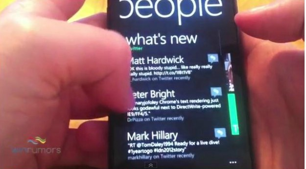 Windows Phone Mango with Twitter