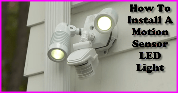 Wiring A Security Light To Mains