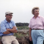 Image of Alice Dye with Pete at Kiawah Island