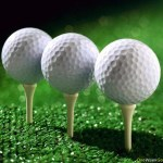 Image of balls on a tee