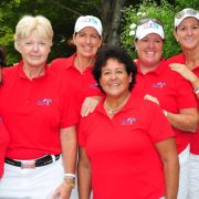 Image of Nancy Lopez with Handa Cup players
