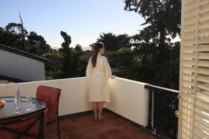Image of woman enjoying Carmel view