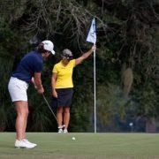 Image of women golfing