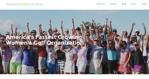 Image of Women on Course website