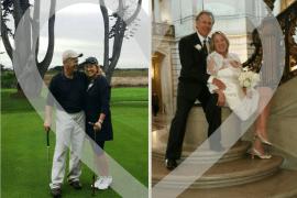 image of happy golfing couple