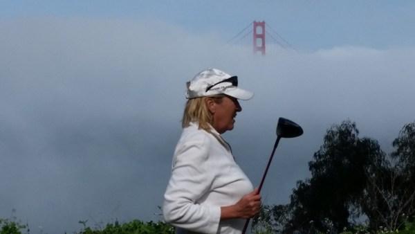 Image of fog shrouding Golden Gate Bridge