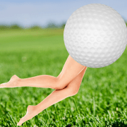 Image of a running golf ball