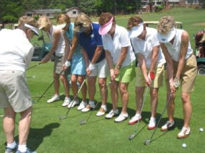 Image of a lesson at Pine Needles