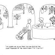 Cartoon of golf course for women