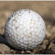 Image of a worn golf ball