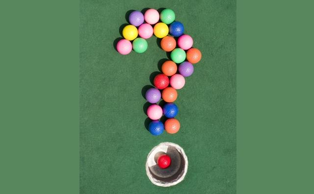 image of golf ball questionmark