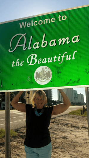 Image of Welcome to Alabama sign