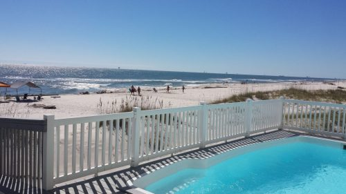 Image of the beach outside Barefoot, the beach house