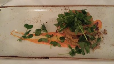 Image of Fried Green Tomatoes with Crab